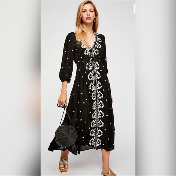 Free People Dresses & Skirts - Free People Fable Midi Dress sz Xs